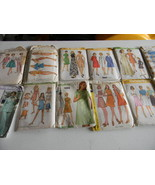 Lot 15 Vtg Used Sewing Patterns Mix Jackets, Dresses, Beach, Skirts, Tops - $1.99