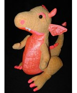 Animal Adventure Dragon Orange Pink Plush Stuff... - $10.88