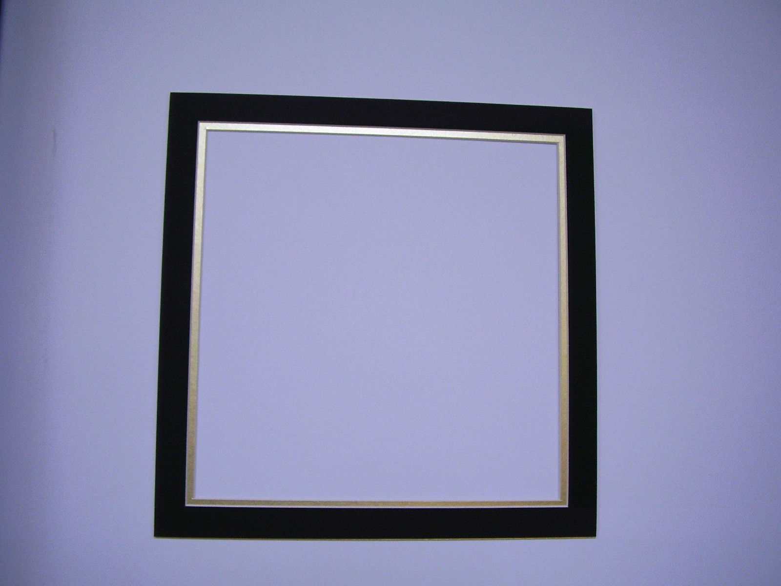 picture frame double mat 14x14 for photo black with gold custom framing mats. Black Bedroom Furniture Sets. Home Design Ideas