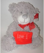 Love U Grey Teddy Bear Walmart Plush Stuffed An... - $28.88
