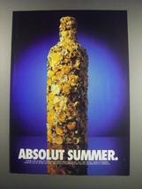 1991 Absolut Vodka Ad - Absolut Summer - $14.99