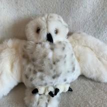 Snowy Owl Furry Folk Hand Puppet Folkmanis White Head Spins Soft Plush Toy Bird - $32.43