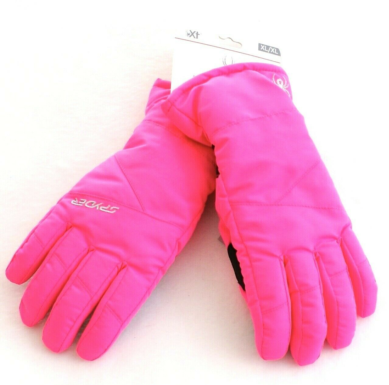 Primary image for Spyder Bryte Bubblegum Pink Performance Insulated Ski Gloves Youth Girl's NWT