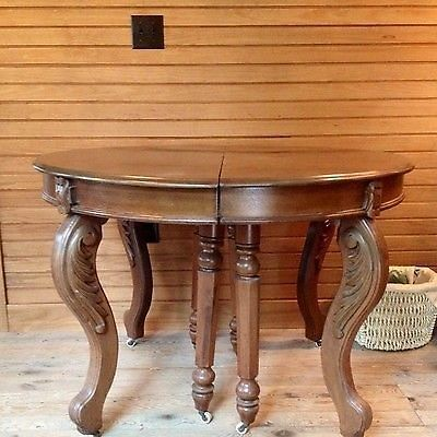 Antique Victorian Walnut Dining Table