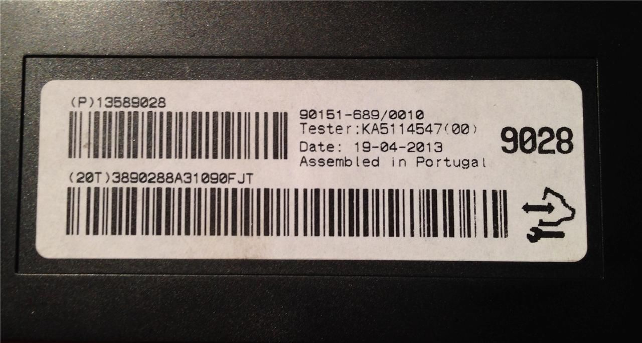 F-(S) CONTROL Genuine OEM GM part #13589028