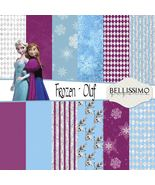 "Frozen Inspired Paper Pack: Scrapbook Paper,12""x12"", Digital Paper, 12 P... - $2.80"