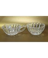 Vintage Pressed Glass/depression glass Creamer & Sugar Bowl Set - $10.00