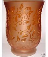 Gold, Etched Glass, Pillar Candle Holder + 1 Tea Light - $10.00