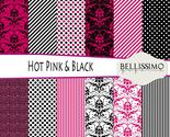 Hot pink   black paper package thumb155 crop