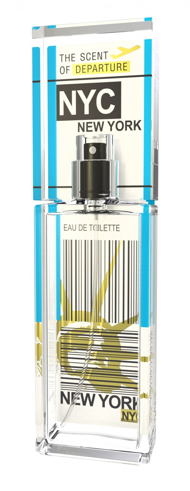 NEW YORK CITY by SCENT of DEPARTURE 5ml Travel Spray NYC LOTUS CARAMEL Perfume