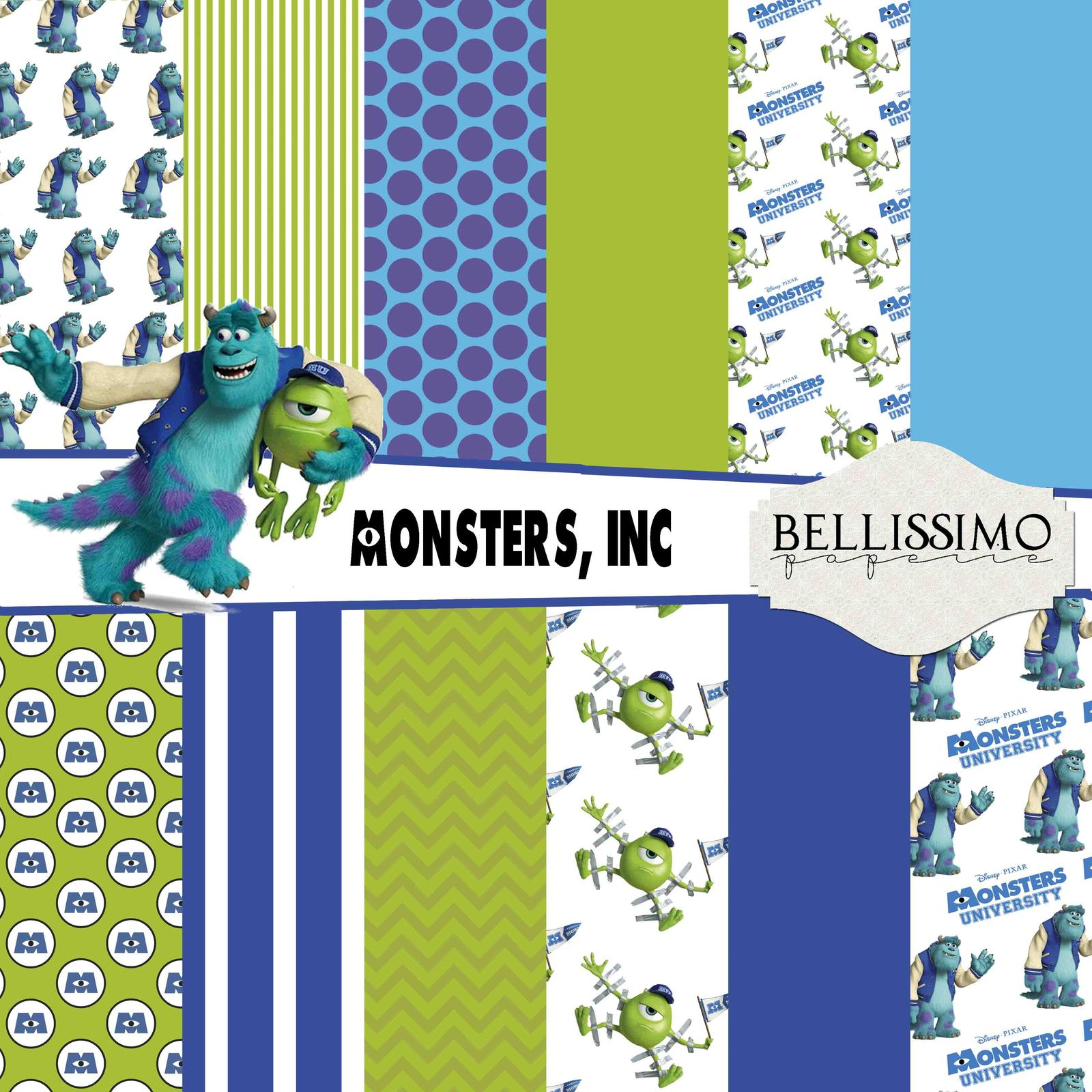 Monsters inc paper package