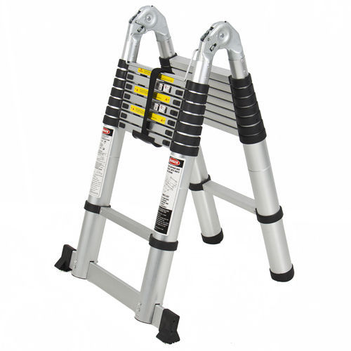 Collapsible Ladder 10 Ft : Ft aluminum telescopic telescoping collapsible ladder