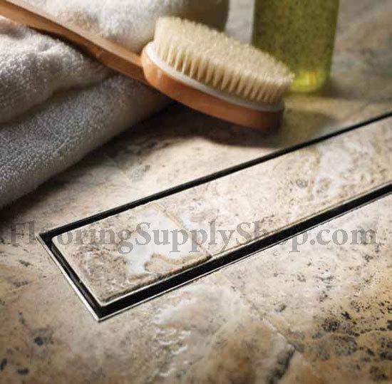 Quartz shower grates tile