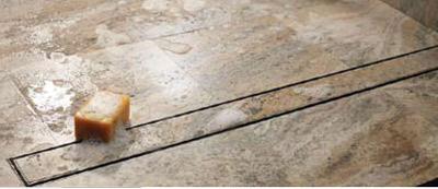 Quartz Linear Drain Tile 40 Plain Edge - Oil Rubbed Bronze