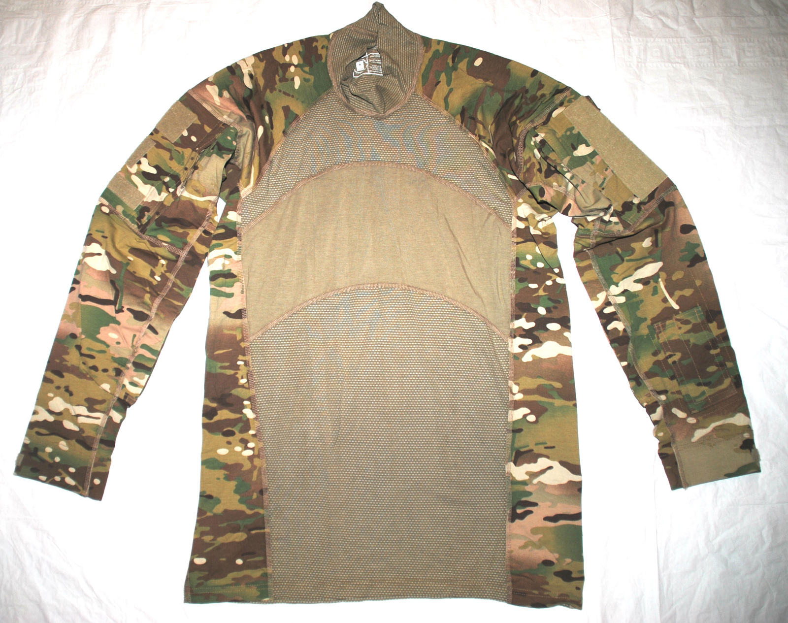 US ARMY ISSUE - MULTICAM ARMY COMBAT NOMEX FLAME RESISTANT SHIRT - SIZE LARGE