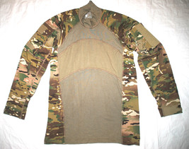 Us Army Issue   Multicam Army Combat Nomex Flame Resistant Shirt   Size Large - $50.00