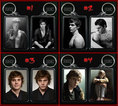 Evan Peters Keychain / Keyring Choose From 4 Designs - $7.91