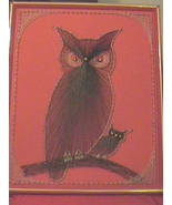 Vintage String Art Embroidery Threads Arts Crafts 1974 Owl - $80.00