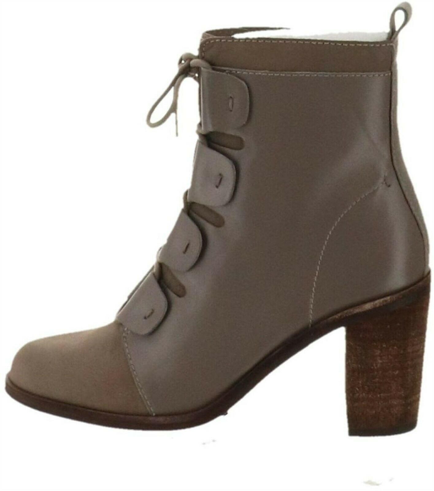 Primary image for ED Ellen DeGeneres Leather & Suede Ankle Boots Wallee Shadow 8M NEW A297004
