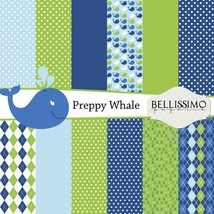 Preppy whale boy paper pack thumb200