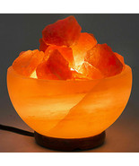 Himalayan Salt Lamp Fire Bowl UL-Listed Dimmer Cord Night Light - $7.55