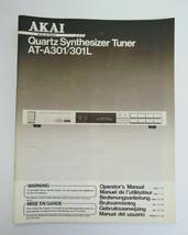 AKAI AT-A301/301L Quartz Synthesiser Tuner Original Operator's manual. - $12.00