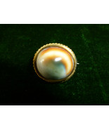 "Antique Italian Grand Tour ""Eye of Zeus"" Pin  Set Operculum Shell Circa ... - $110.00"