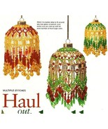 Y269 Bead PATTERN ONLY Beaded Holly Christmas Ornament Cover Pattern - $12.50