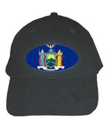 New York State Flag  Quality Catton Black Adjustable Baseball Cap - $15.99