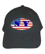 New York  Quality Catton Black Adjustable Baseball Cap - $15.99
