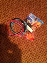 HANNAH MONTANA 6 RUBBER BRACELETS WITH GUITAR CHARM  BRAND NEW - $6.92