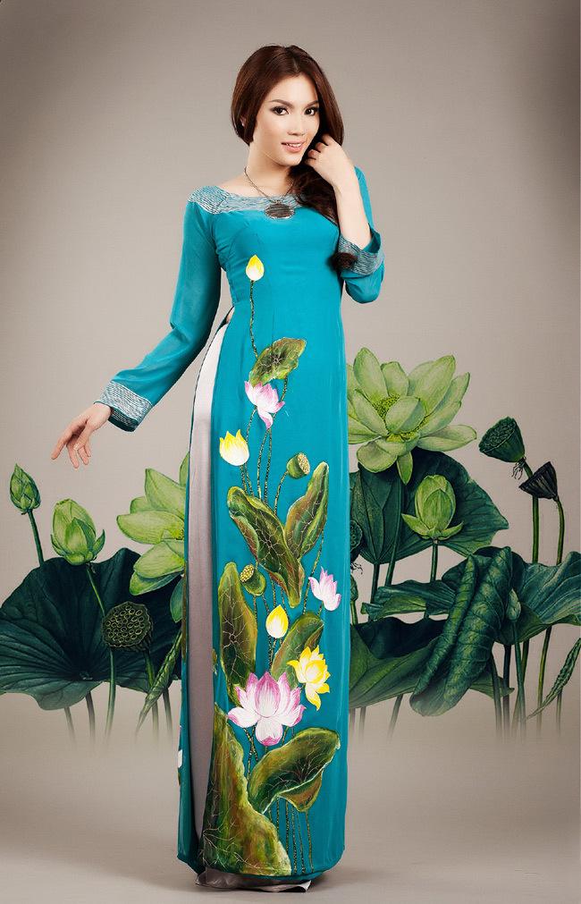 ao dai viet nam , lotus flower, vietnamese and 50 similar items