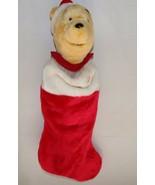 "Disney Winnie the Pooh Christmas Stocking 20"" Plush Singing motion - $19.99"