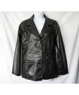 EMPORIO COLLEZIONE Womens Black Leather Jacket Coat Size Small EUC - $17.00