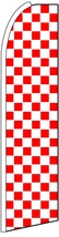 "Red  and  white checkers King size Swooper Feather  flag  (3""x11.5"") - $17.99"