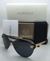 Neu Versace Sonnenbrille Ve 2161 1002/87 Schild Gold & Schwarz Rahmen W ... - $300.86