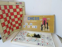 VTG 1965 SELCHOW & RIGHTER CHESS FOR JUNIORS BOARD GAME BOXED COMPLETE - $17.59