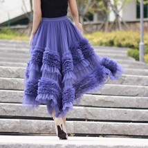 High-low Layered Tulle Skirt Outfit Plus Size Wedding Outfit Tiered Tulle Skirt image 6
