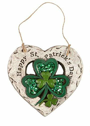 Northeast Home Goods St. Patrick's Day Decorative Heart Hanger (Happy St. Patric