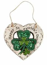 Northeast Home Goods St. Patrick's Day Decorative Heart Hanger (Happy St... - $23.98