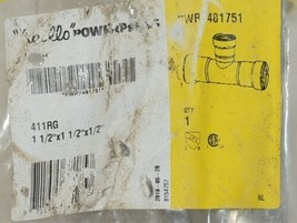Apollo Piping Systems PowerPress Gas Carbon Steel Press Reducing Tee PWR7481751 image 2