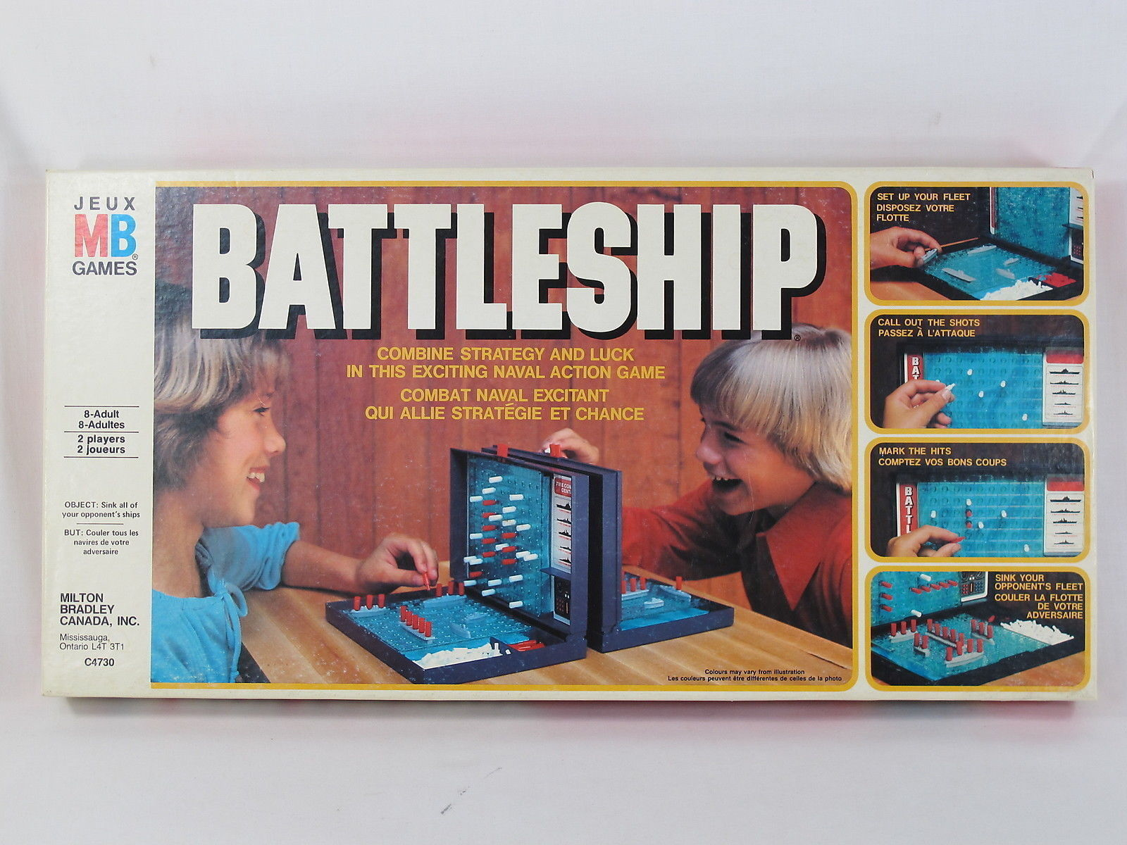Battleship 1978 Classic Naval Combat Board Game 100% Complete Bilingual