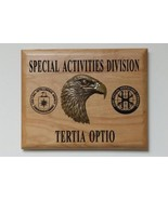 CIA NCS Special Activities Division JSOC Insignias Maple Plaque 3D Eagle... - $108.90