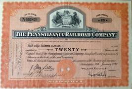 1936 The Pennsylvania Railroad Company Shares Vintage Antique 20 shares - $37.57
