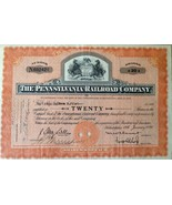 1936 The Pennsylvania Railroad Company Shares Vintage Antique 20 shares - $37.57