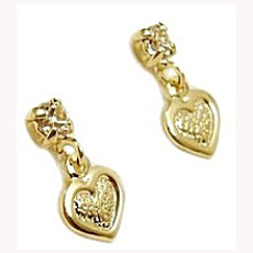 infant earrings with safety backs baby or toddler s 18k skillus gold and cz stud 2158