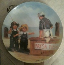 "KNOWLES ""FISH STORY"" COLLECTOR PLATE JEANNE DOWN -1ST ISSUE- FRIENDS I R... - $5.35"