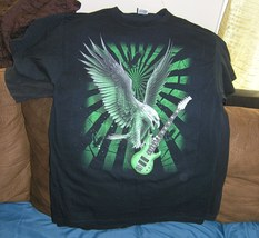 Nice Graphic Tees Size Large with Guitar desing - $5.00