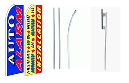 Auto Alarm, Installation king size swooper feather flag with complete kit  - $108.00