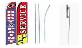 Auto Body & Paint, AC Service king size swooper feather flag with complete kit  - $110.00